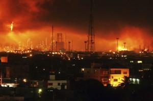 esplosion en refineria amuay