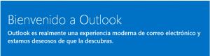 Bienvenidos a Outlook
