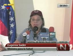 Ministra de la Salud Eugenia Sader